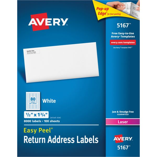Avery Easy Peel Return Address Labels