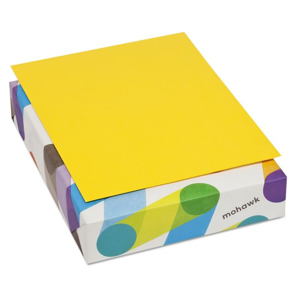 Mohawk BriteHue Multipurpose Colored Paper, 24lb, 8 1/2 x 11, Yellow, 500 Sheets