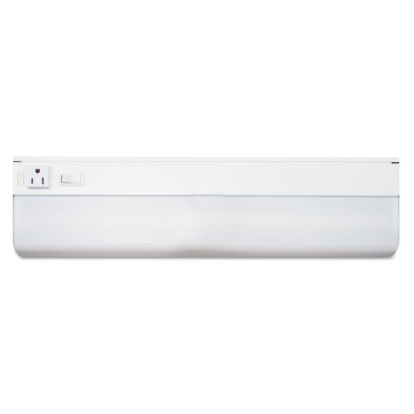 Ledu Under-Cabinet Fluorescent Fixture, Steel, 18-3/4 x 4, White