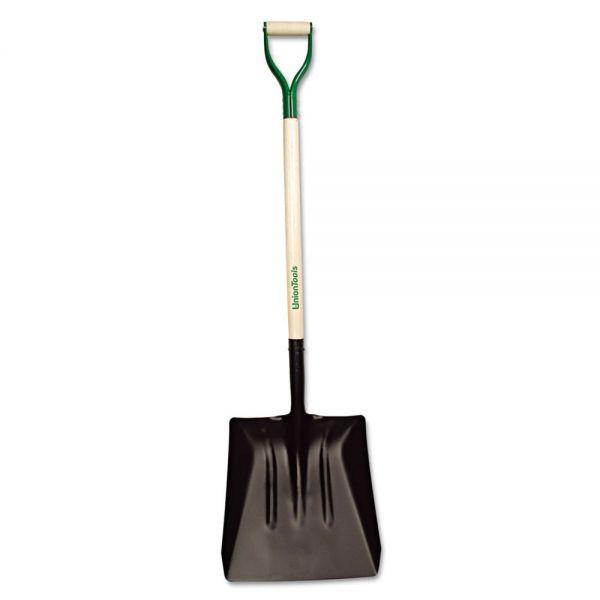 UnionTools Steel Street Shovel, D-Handle, #4, 38in Handle
