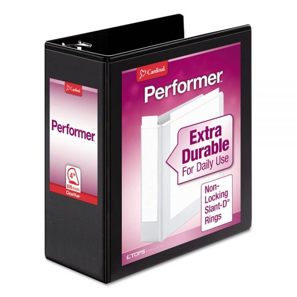 "Cardinal Vinyl Clearvue Xtravalue 4"" 3-Ring View Binder"