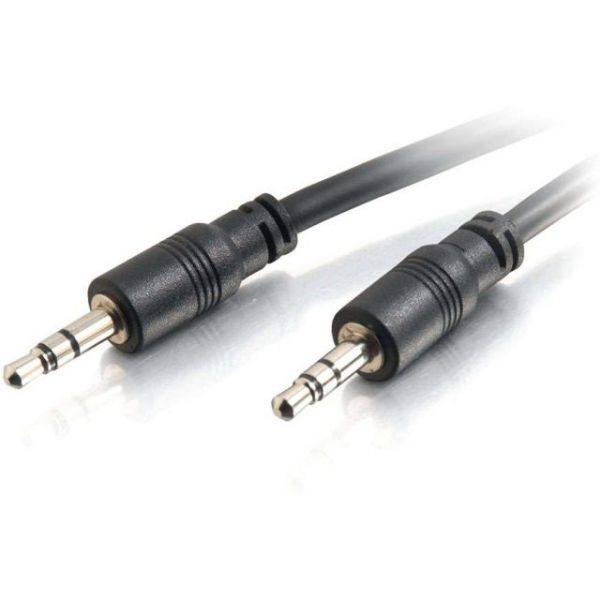 C2G 25ft CMG-Rated 3.5mm Stereo Audio Cable With Low Profile Connectors