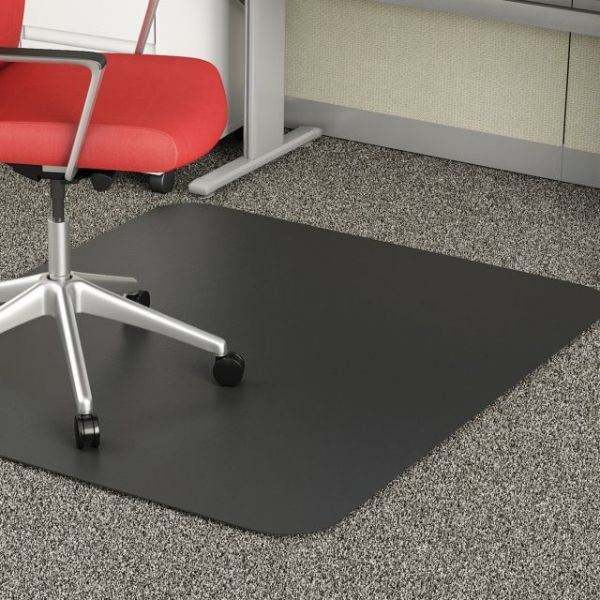Deflect-o Black Low Pile Chair Mat