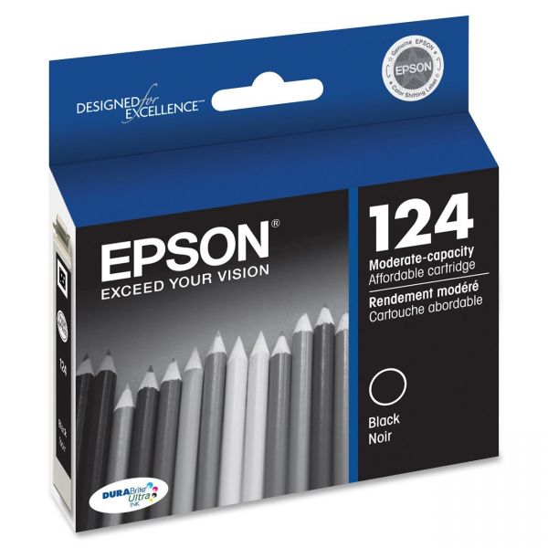 Epson 124 Black Ink Cartridge (T124120)