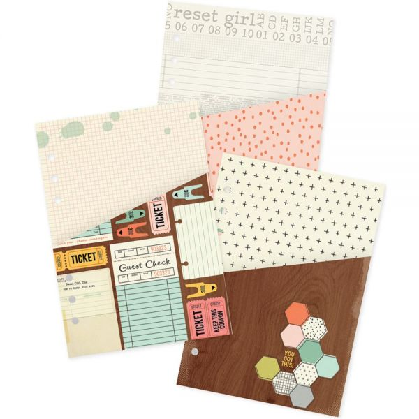 Reset Girl Double-Sided Pocket Inserts A5 3/Pkg
