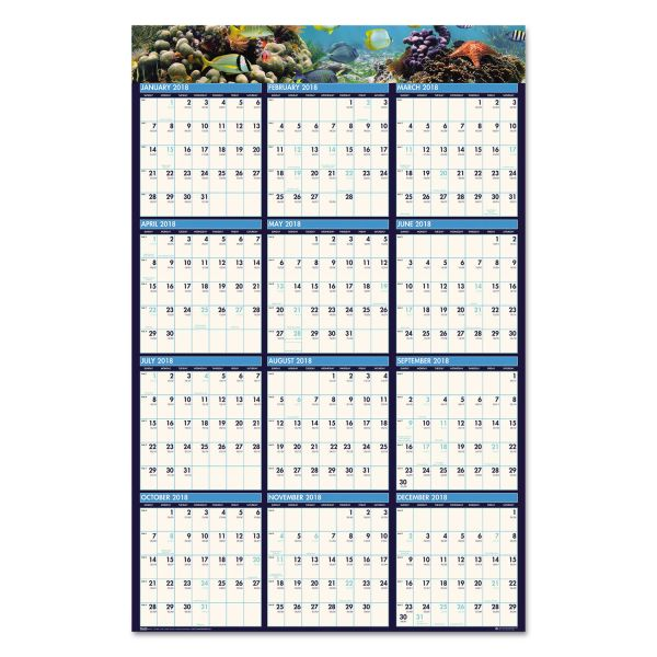House of Doolittle Earthscapes Reversible Laminated Yearly Wall Calendar