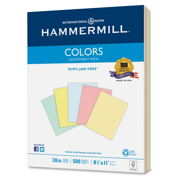 Hammermill Colors Recycled Colored Copy Paper - Assorted