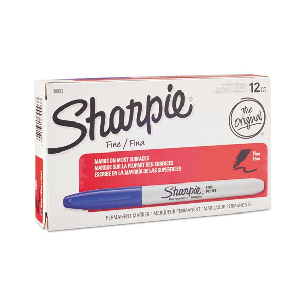 Sharpie Fine Point Blue Permanent Markers