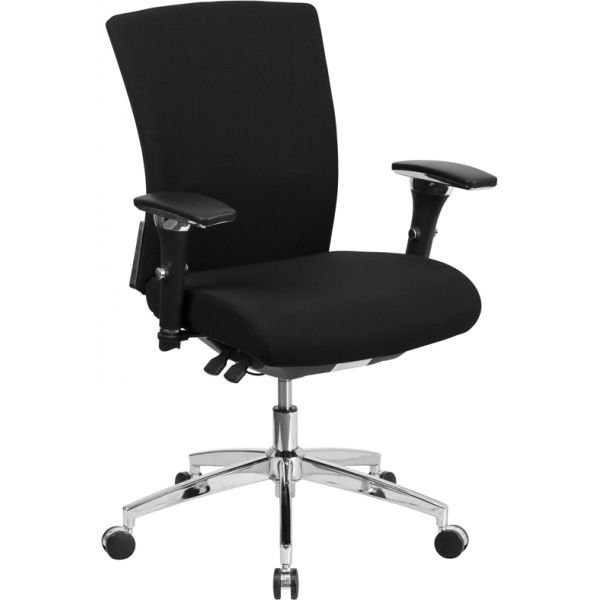 Flash Furniture HERCULES Series 24/7 Multi-Shift Fabric Multi-Functional Executive Swivel Chair with Seat Slider