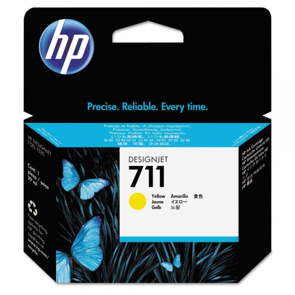 HP 711 Yellow Ink Cartridge (CZ132A)