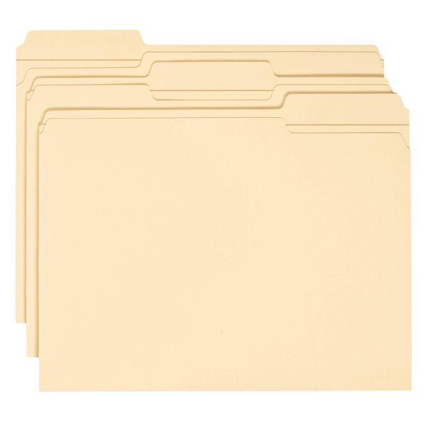 Smead WaterShed/CutLess Manila File Folders