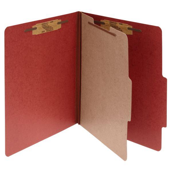Acco Red Pressboard Classification Folders