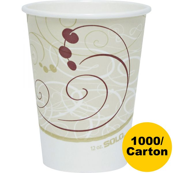 Solo Single-Sided Poly 12 oz Coffee Cups