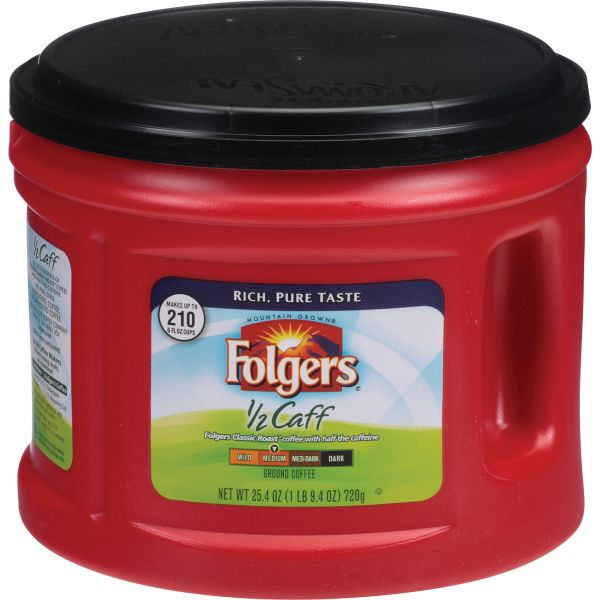 Folgers 1/2 Caff Ground Coffee (1.59 lb)