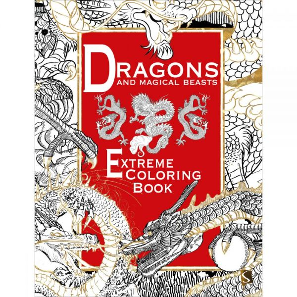 Sterling Publishing: Dragons & Magical Beasts Extreme Coloring Book