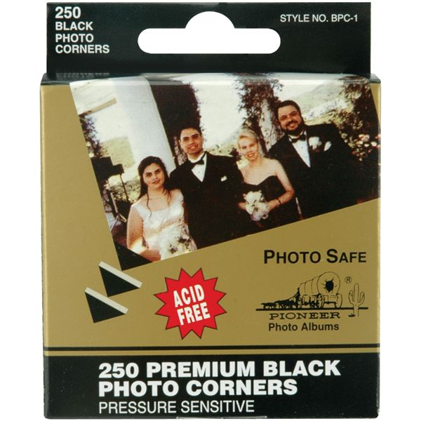 "Premium Photo Corners Self-Adhesive .5"" 250/Pkg"