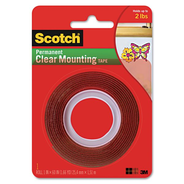 3M Scotch 4010 Clear Heavy-Duty Mounting Tape