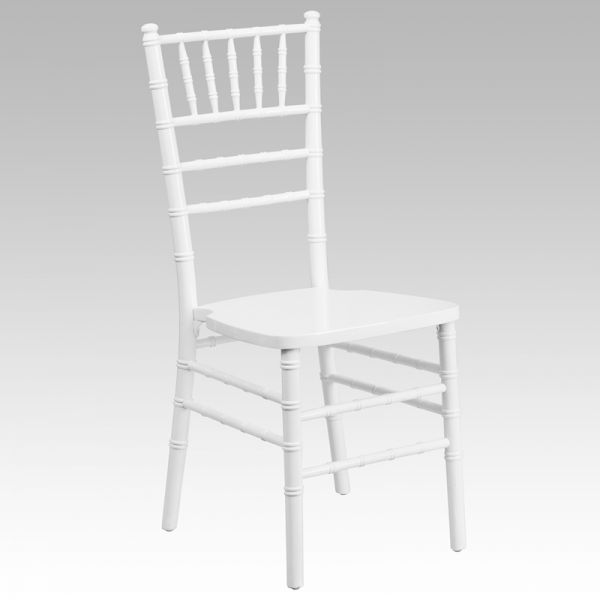 Flash Furniture White Wood Chiavari Chair