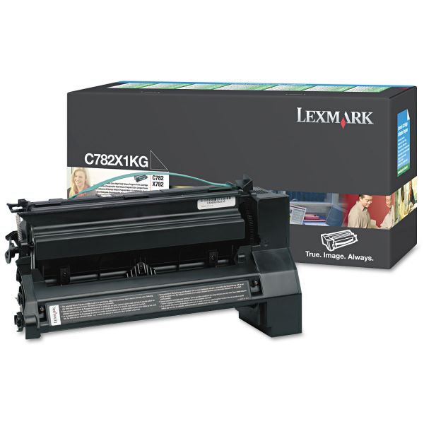 Lexmark C782X1KG Black Extra High Yield Return Program Toner Cartridge