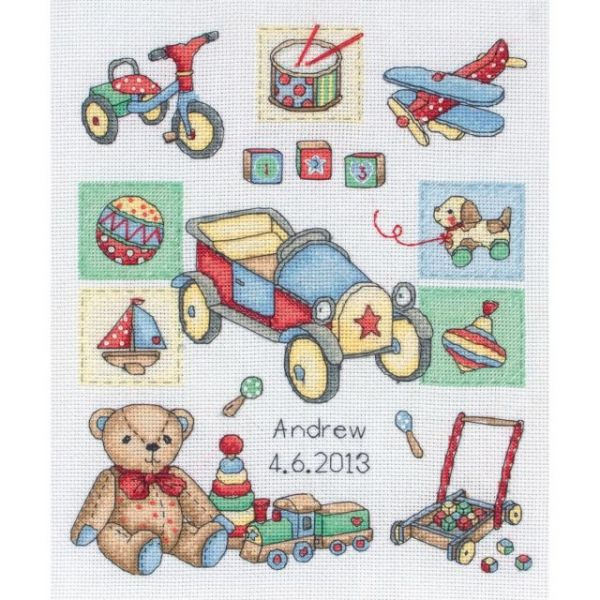 Boy Birth Record Counted Cross Stitch Kit