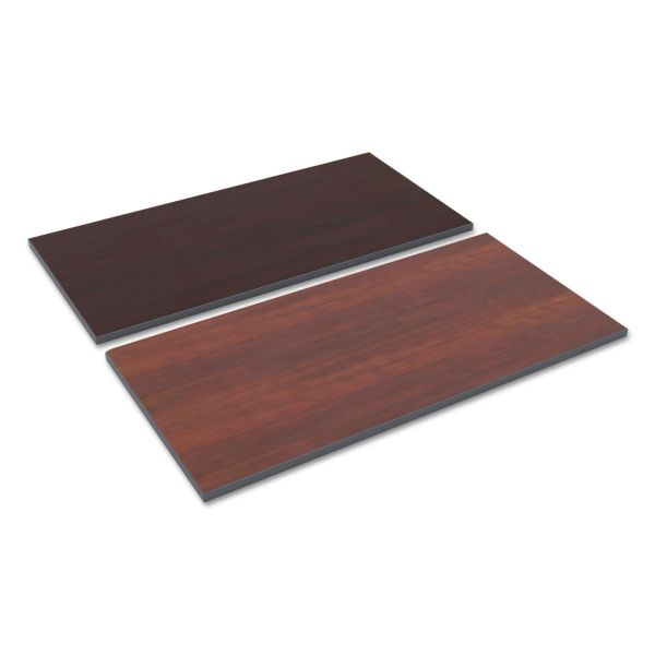 Alera Reversible Laminate Table Top, Rectangular, 47 5/8 x 23 5/8, Med Cherry/Mahogany