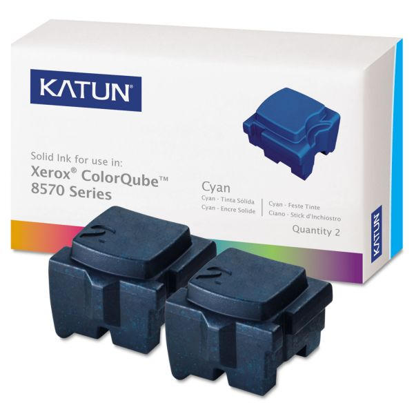 Katun 39395 Compatible 108R00926 Solid Ink Stick, Cyan, 2/BX