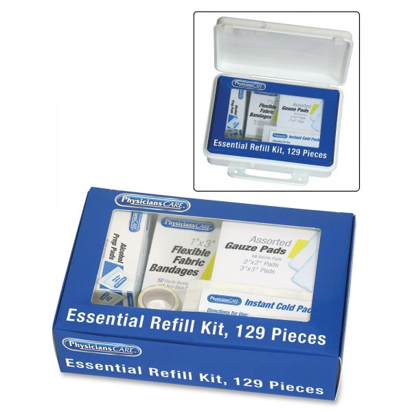 PhysiciansCare by First Aid Only Essential Refill Kit, 129 Pieces/Kit