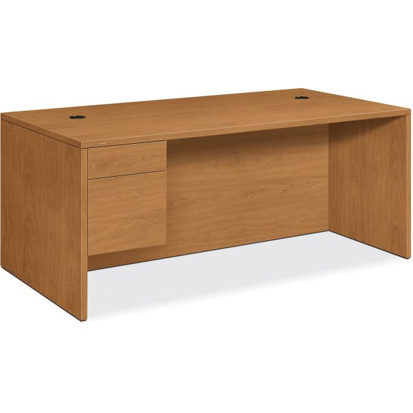 "HON 10500 Series Left Pedestal Desk | 1 Box / 1 File Drawer | 72""W"