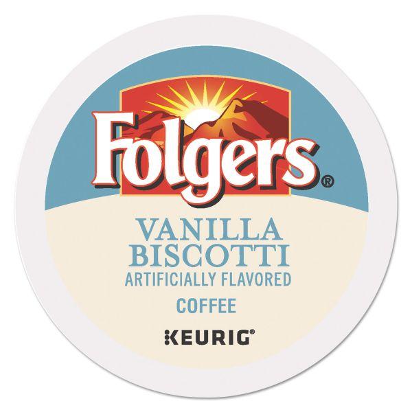 Folgers Vanilla Biscotti Coffee K-Cups, 24/Box