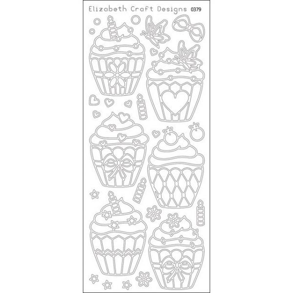 Cupcakes Peel-Off Stickers