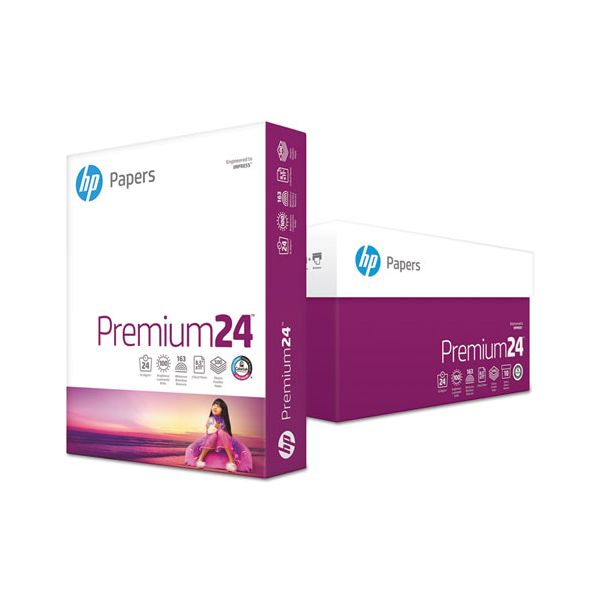 HP LaserJet Paper, 98 Brightness, 24 lb, 8 1/2 x 11, Ultra White, 500 Sheets/Ream