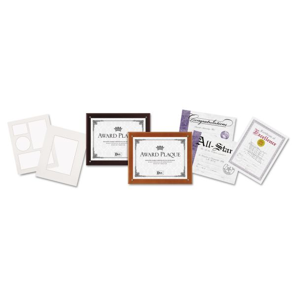 DAX Plaque-In-An-Instant Kit w/Certificates & Mats, Wood/Acrylic, 10-1/2x13, MY