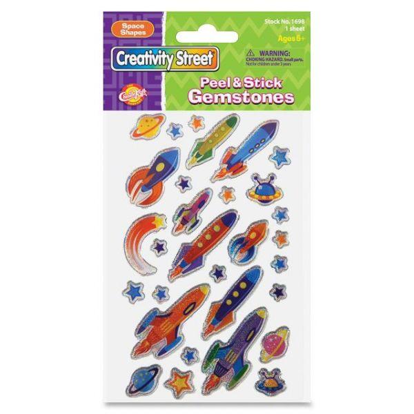 ChenilleKraft Peel & Stick Space Shapes Gemstone Stickers
