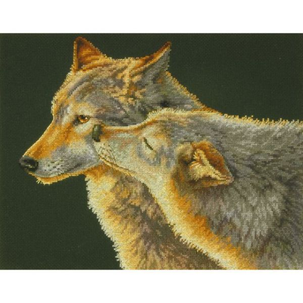 Dimensions Wolf Kiss Counted Cross Stitch Kit