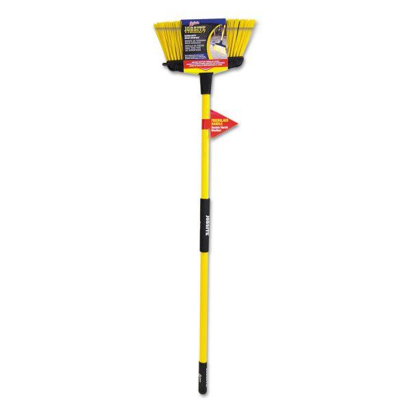 "Quickie Super-Duty Upright Broom, 5 1/2"" Bristles, 54"" Handle, Fiberglass, Yellow/Black"