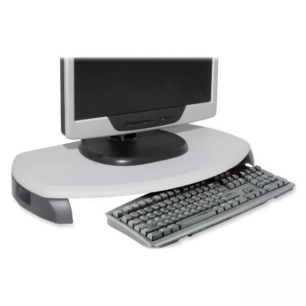Kantek LCD/CRT Stand with Keyboard Storage - Two Tone Gray