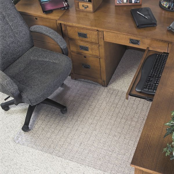 Deflecto SuperMat Medium/Low Pile Checkered Chair Mat