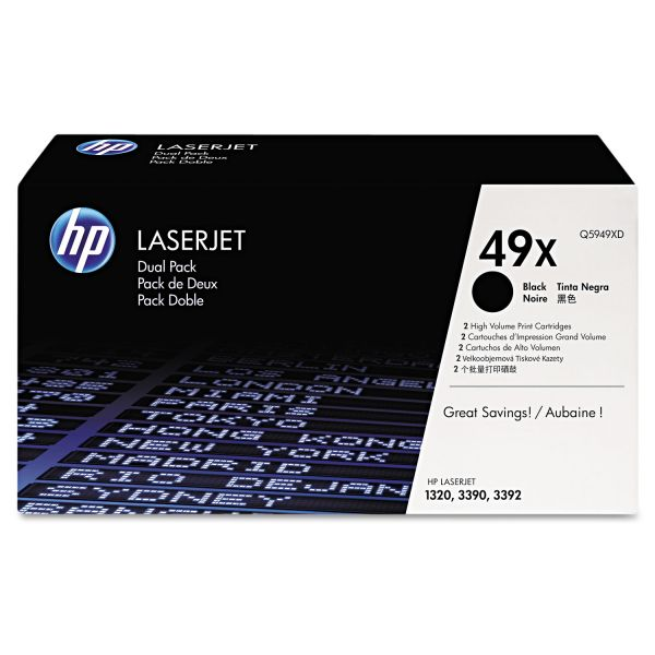 HP 49X Black High Yield Toner Cartridges (Q5949XD)