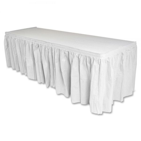 Genuine Joe Linen-Like Table Skirts