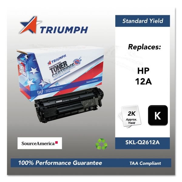 SKILCRAFT Remanufactured HP 12A Toner Cartridge