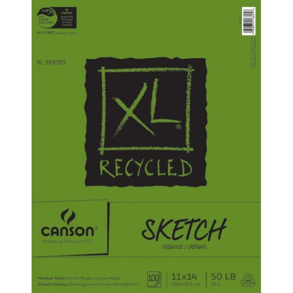 Canson Acid Free XL Recycled Sketch Book