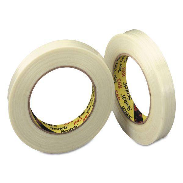 """Scotch Filament Tape, 24mm x 55m, 3"""" Core, Clear"""