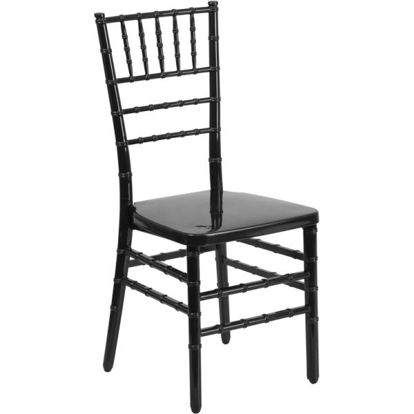 Flash Furniture Black Resin Chiavari Chair