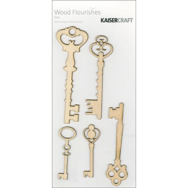 Wood Flourishes 5/Pkg