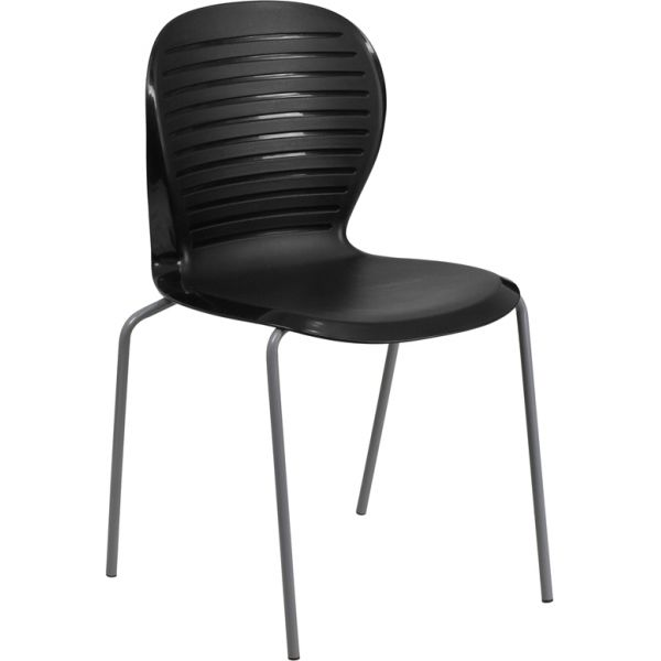 Flash Furniture HERCULES Series 551 lb. Capacity Black Stack Chair