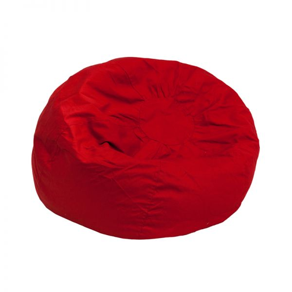 Flash Furniture Small Solid Red Kids Bean Bag Chair
