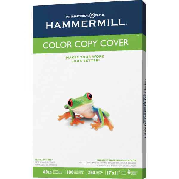 "Hammermill Color Copy Digital 11"" x 17"" Photo White Cover Stock"