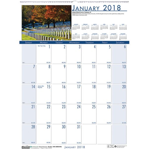 House of Doolittle National Monuments Monthly Wall Calendar
