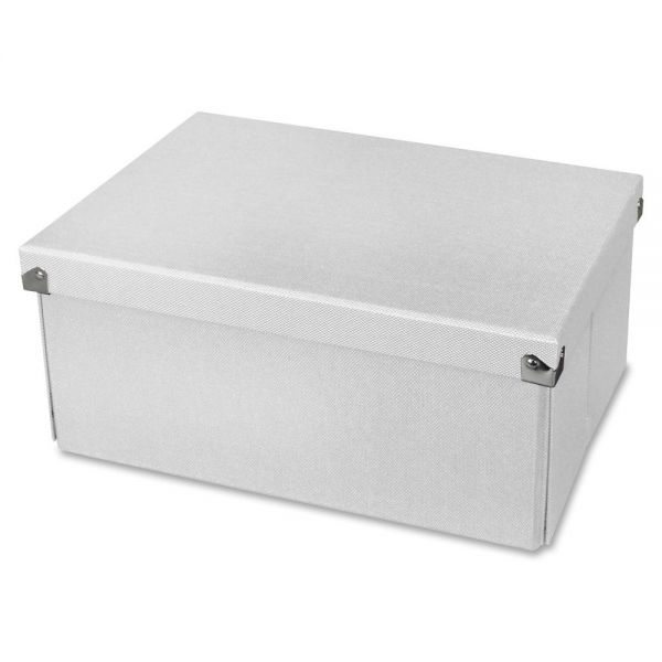 "Samsill Pop n' Store Medium Document Box White - 12.75""x6""x9.5"""