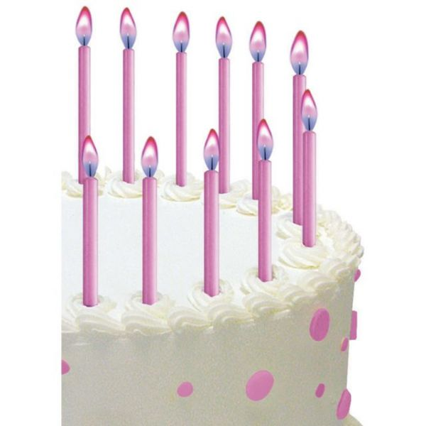"Color Flame Candles 2"" 12/Pkg"